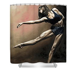 With Strength And Grace Shower Curtain by Richard Young