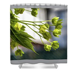 With The Breeze - Shower Curtain