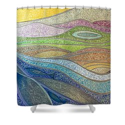With The Flow Shower Curtain