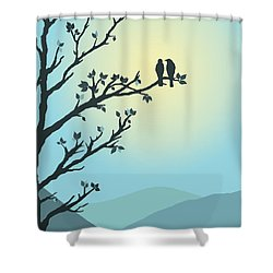 With You By My Side Shower Curtain