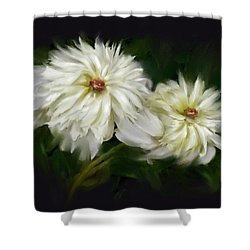 Shower Curtain featuring the painting Withering Peony by Bonnie Willis