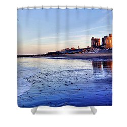 Withernsea Sunset And Moon Shower Curtain