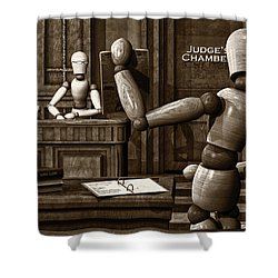 Witness For The Prosecution Shower Curtain by Bob Orsillo
