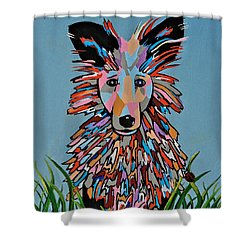 Wiz - Dog Art Shower Curtain