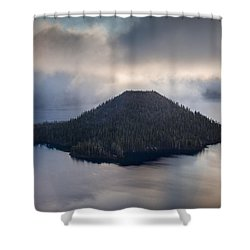 Wizard Among The Mists Shower Curtain