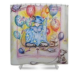 Wizard Boy Shower Curtain by Rita Fetisov