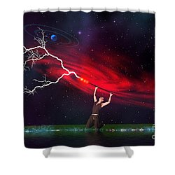 Wizard Shower Curtain by Corey Ford