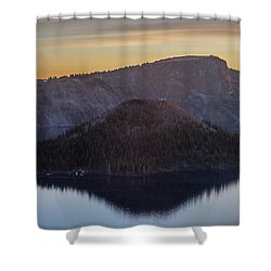 Wizard Island Morning Shower Curtain