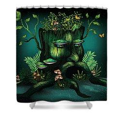 Wizard Stump Shower Curtain by Serena King