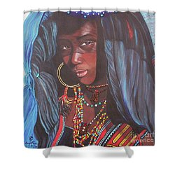 Wodaabe Girl Shower Curtain