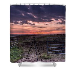 Wolds Sunset 2 Shower Curtain