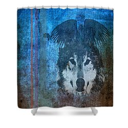 Wolf And Raven Shower Curtain