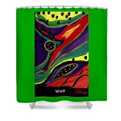 Shower Curtain featuring the painting Wolf by Clarity Artists