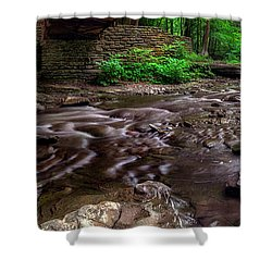 Shower Curtain featuring the photograph Wolf Creek Panorama by Mark Papke