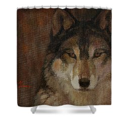 Wolf Head Shower Curtain