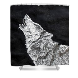 Wolf Howl Shower Curtain by Stan Hamilton