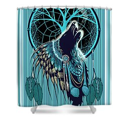 Wolf Indian Shaman Shower Curtain