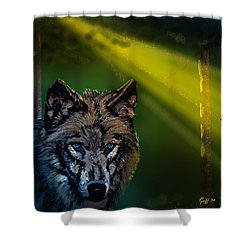 Wolf Of The Dark Wood Shower Curtain by J Griff Griffin