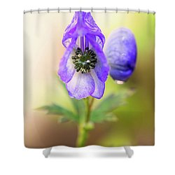 Shower Curtain featuring the photograph Wolf's Bane Flower Plant by Nick Biemans