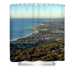 Shower Curtain featuring the photograph Wollongong by Nicholas Blackwell
