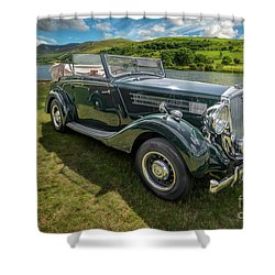Shower Curtain featuring the photograph Wolseley Classic Car by Adrian Evans