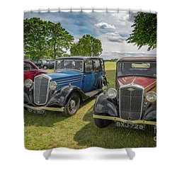Shower Curtain featuring the photograph Wolseley Motors by Adrian Evans