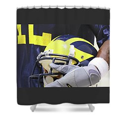 Wolverine Cradles Helmet Shower Curtain
