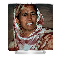 Woman A Struggler Shower Curtain