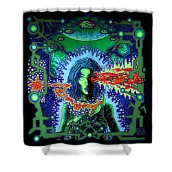 Woman Shower Curtain by Felix Stoever