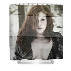 Woman From The Outside  Shower Curtain