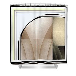 Woman Image Two Shower Curtain