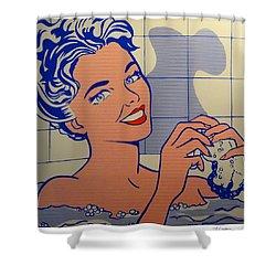 Woman In Bath Shower Curtain