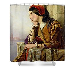 Woman In Love Shower Curtain by Henry Nelson O Neil