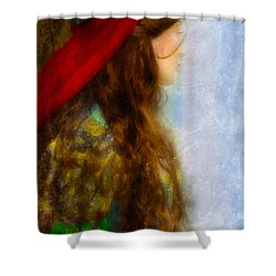 Woman In Medieval Gown Shower Curtain by Jill Battaglia