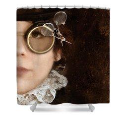 Woman In Steampunk Clothing  Shower Curtain by Jill Battaglia