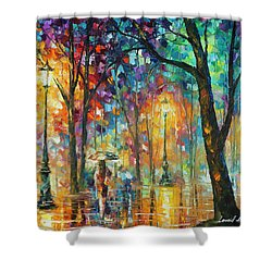 Woman Of The Night Shower Curtain by Leonid Afremov