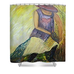 Woman Of Wheat Shower Curtain