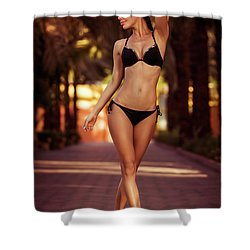 Woman Perfect Body Shower Curtain