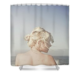 Woman Relaxing On The Beach Shower Curtain by Jorgo Photography - Wall Art Gallery