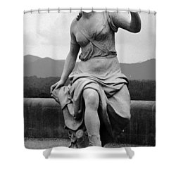 Shower Curtain featuring the sculpture Woman Sculpture Nc by Eric  Schiabor