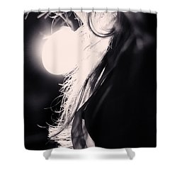 Woman Silhouette Shower Curtain by Stelios Kleanthous