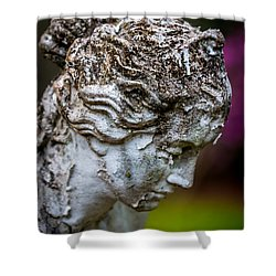Woman Statue Head Shower Curtain