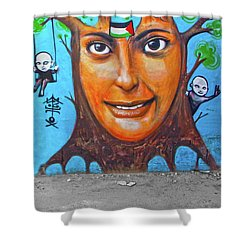 Shower Curtain featuring the photograph Woman Tree by Munir Alawi