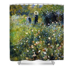 Woman With A Parasol After Renoir Shower Curtain