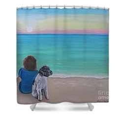 Woman's Best Friend Shower Curtain