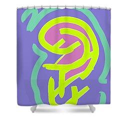 Shower Curtain featuring the digital art Womb Baby Alive by Carolina Liechtenstein