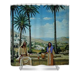 Women At The Well Shower Curtain by Michael Nowak