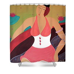 Women In A Boat Shower Curtain