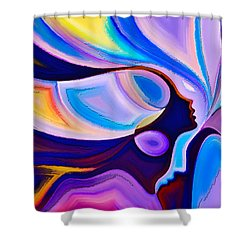 Shower Curtain featuring the digital art Women by Karen Showell