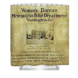 Women's Bureau House Of Detention Poster 1921 Shower Curtain